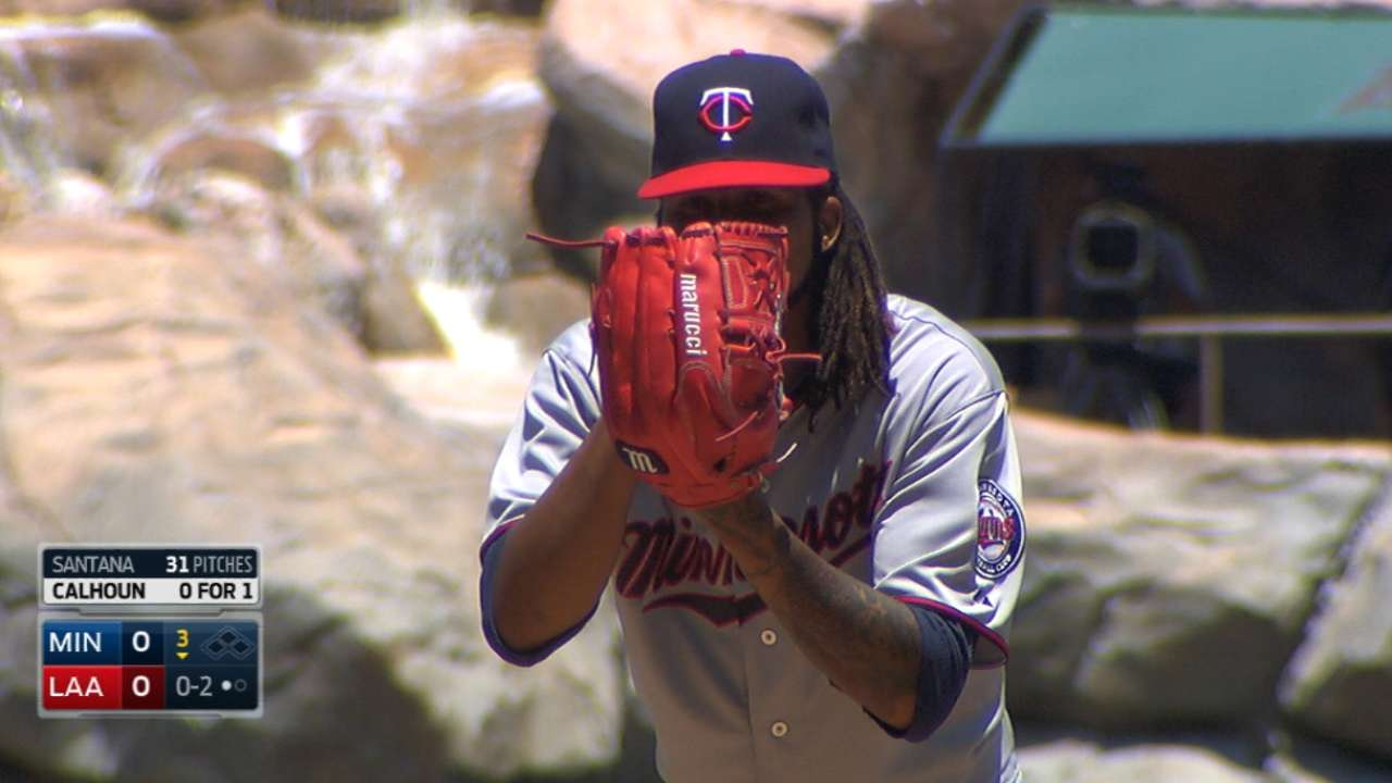Santana tosses eight scoreless