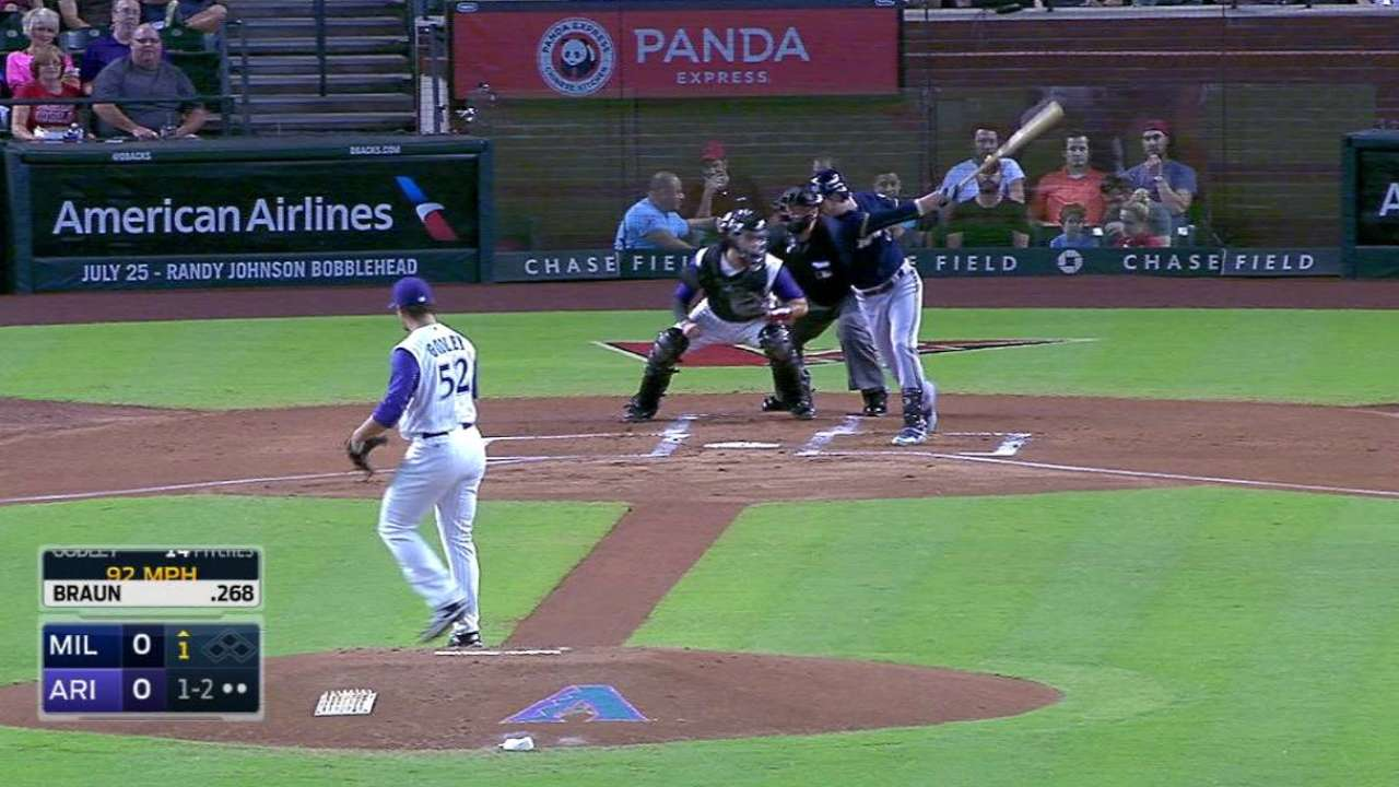 Godley's first career strikeout