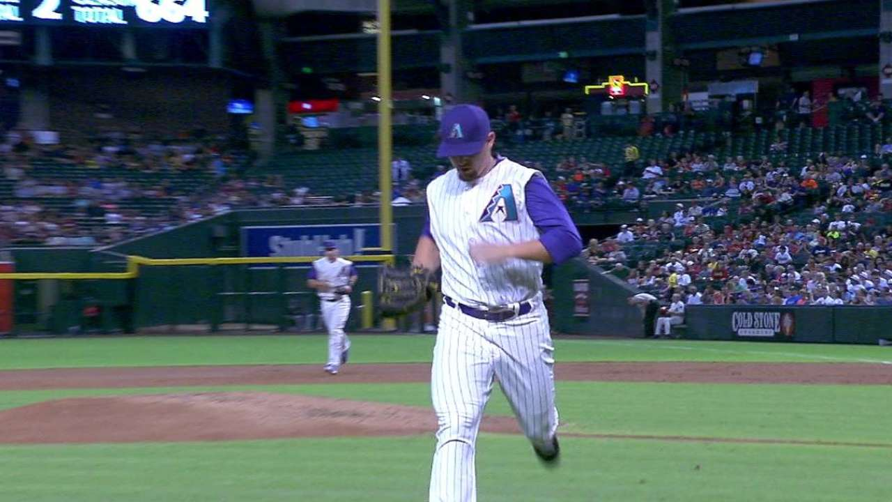 Godley sprints to dugout after K