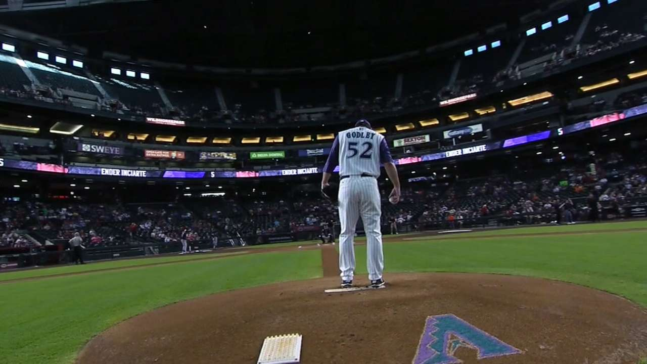 Godley cruises in debut on big league stage