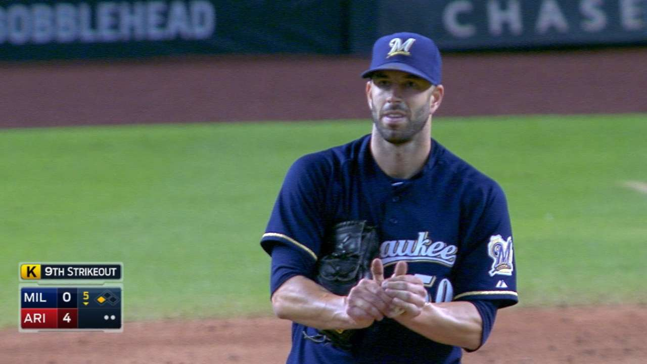 Fiers strikes out 10