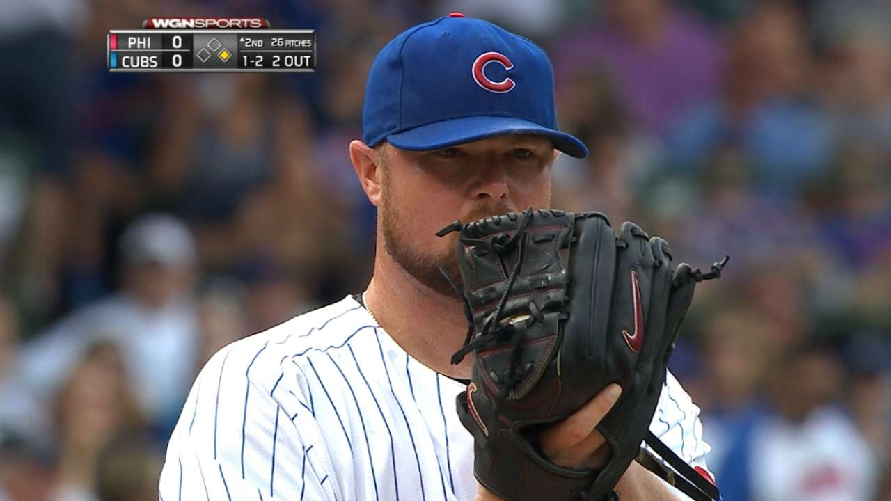 Lester gets no-decision despite effective start