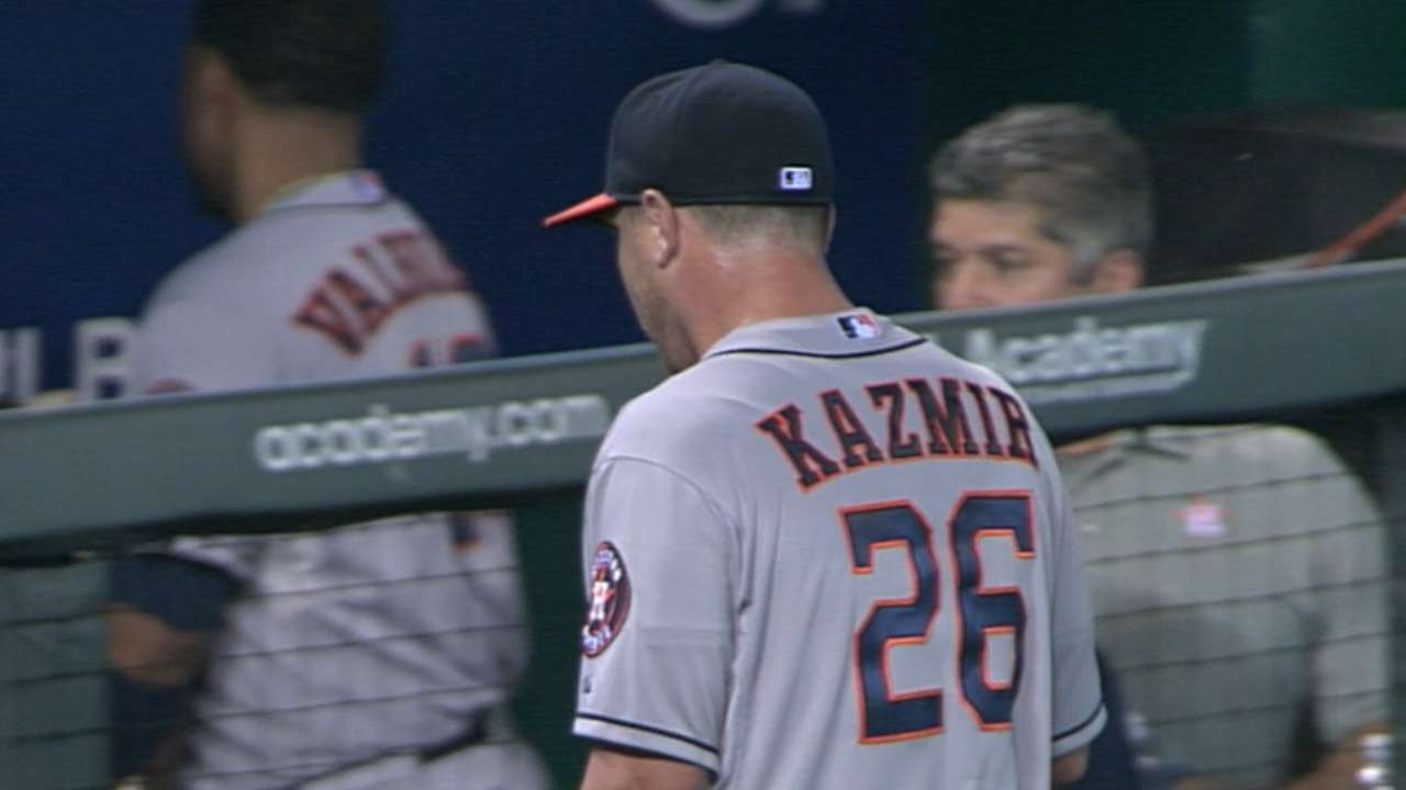 Hinch sets Astros' rotation with Kazmir in fold
