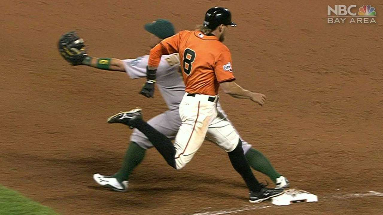 Pence gets a hit after challenge