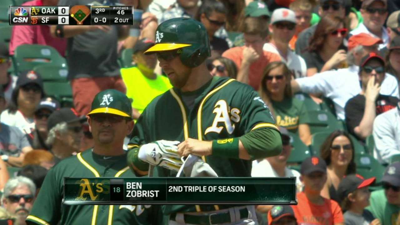 Zobrist triples to center