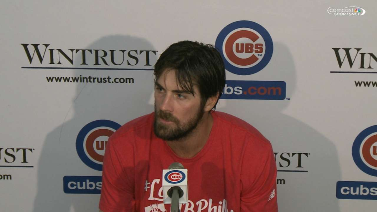 Hamels on no-hitter in Chicago