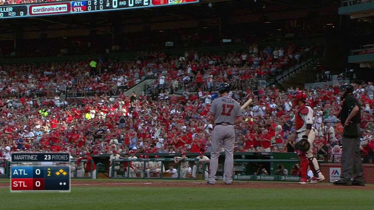 Miller gets ovation in St. Louis