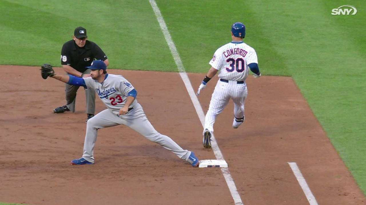 Conforto's first career hit