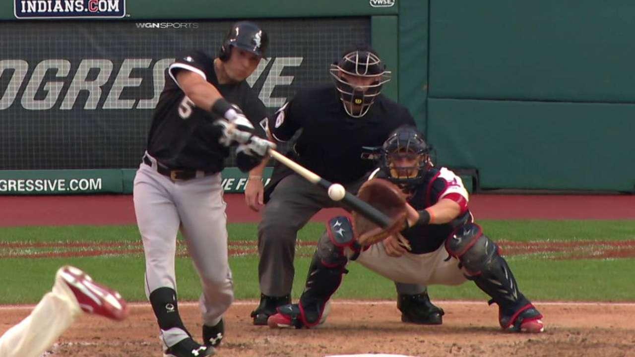 Sanchez's first MLB home run