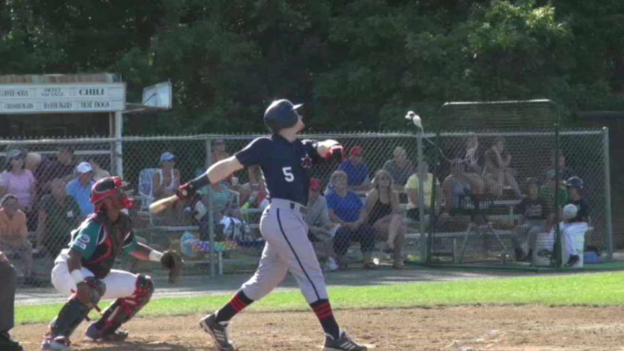 Happ smashes his first pro grand slam