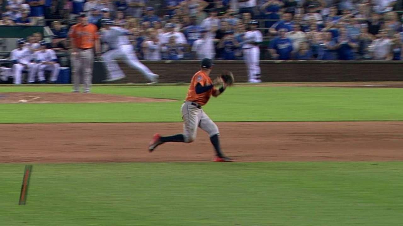 Correa's clutch off-balance toss