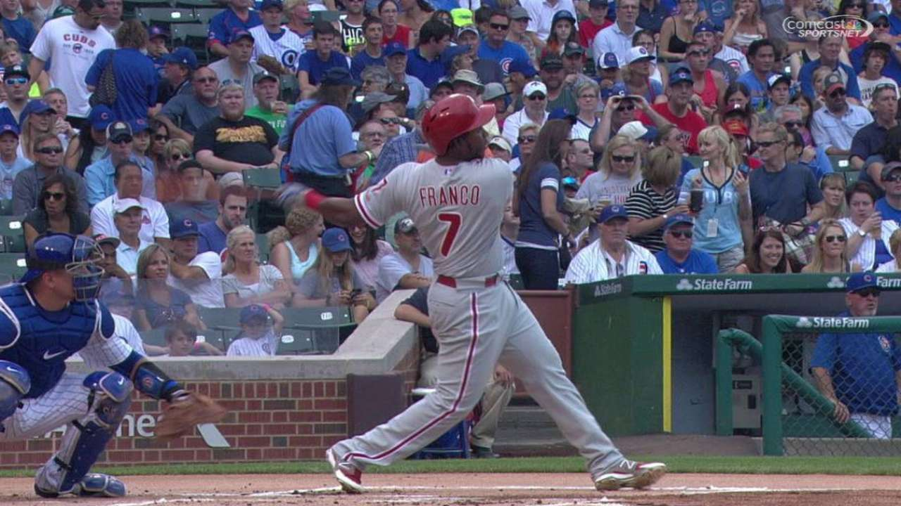 Franco's two-run homer