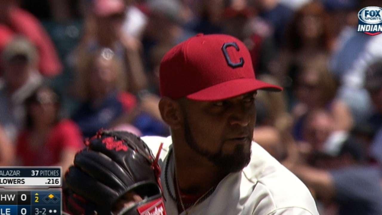 Salazar's eight strikeouts