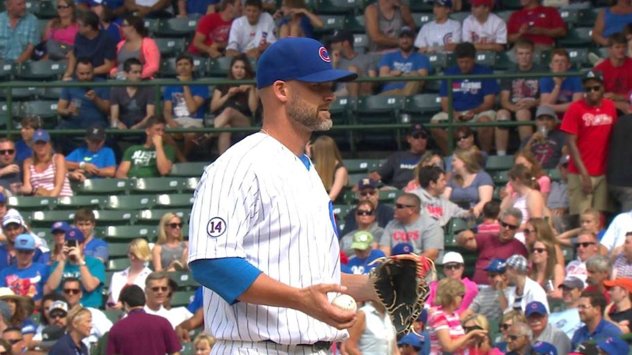 Ross pitches for Cubs