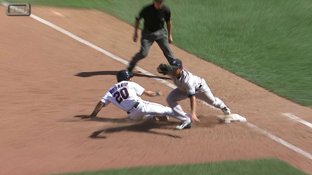 Headley turns double play