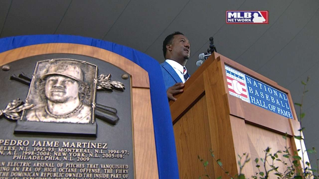 Pedro makes Hall of Fame speech