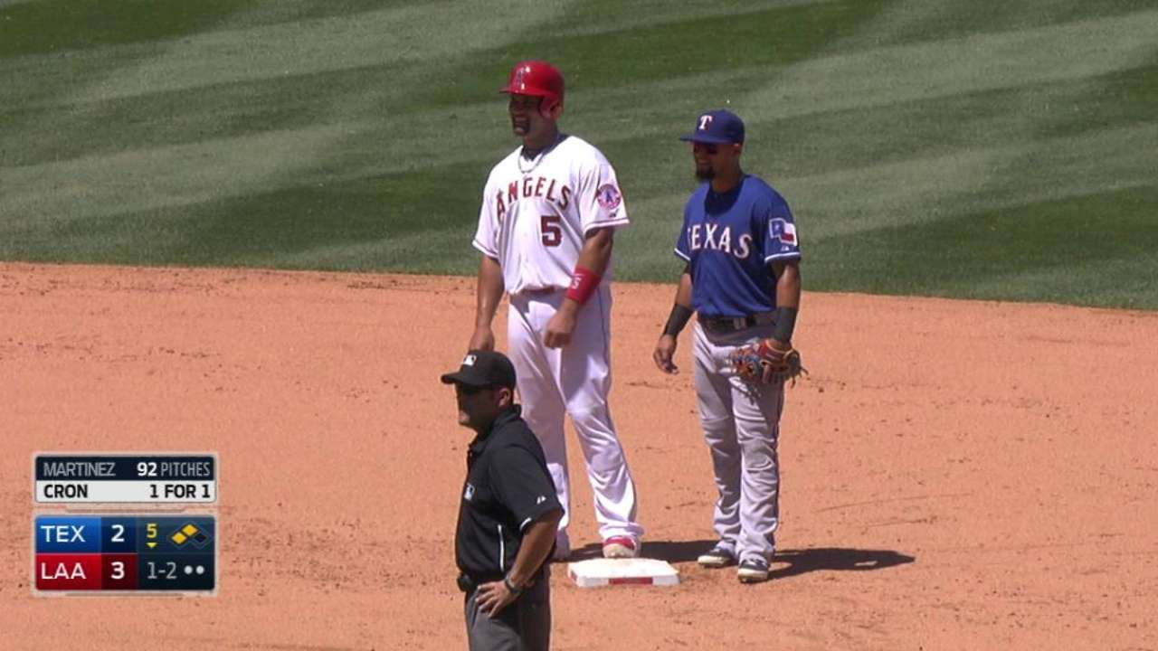 Pujols' 100th career stolen base