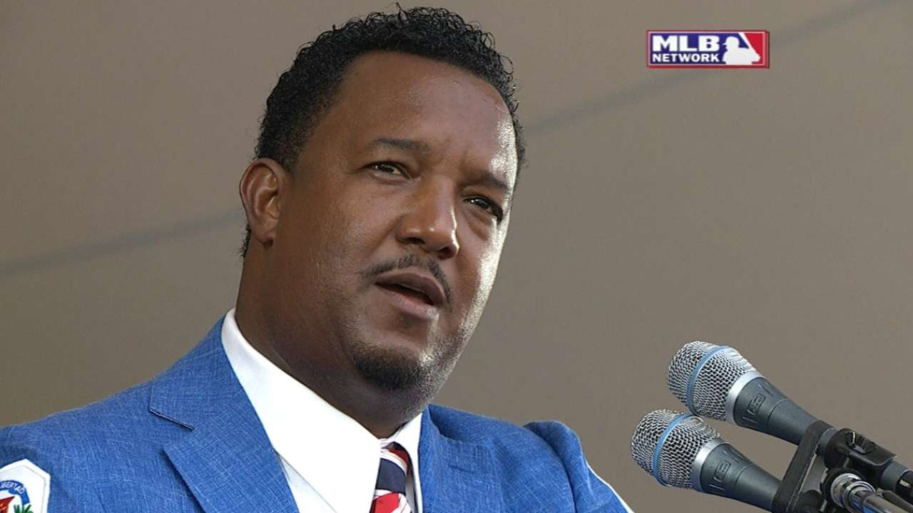 Pedro on Hall of Fame induction