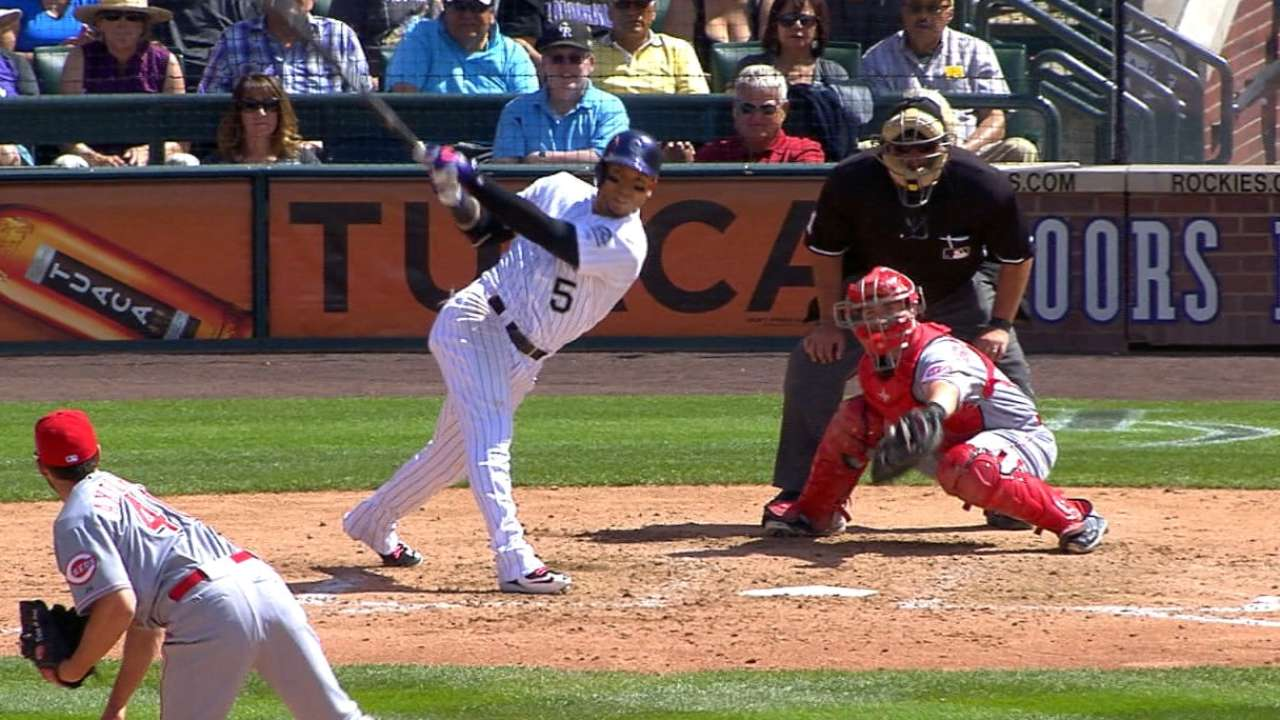 Hits keep coming: Rockies break out with 10-run 3rd