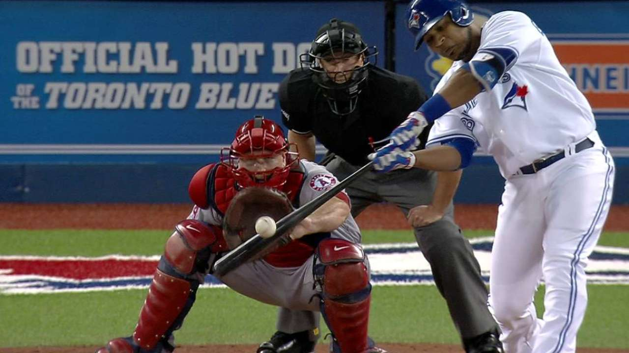 Blue Jays, Dickey overwhelm Angels in finale