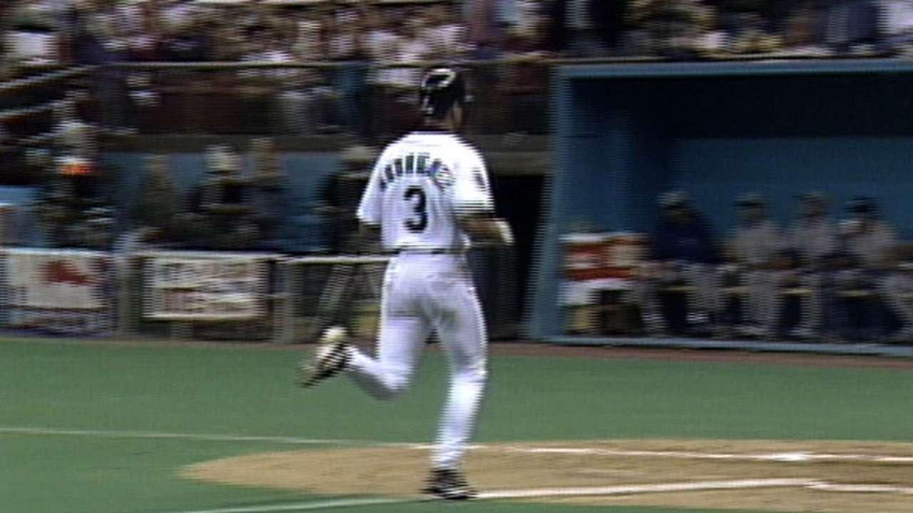 A-Rod's first home run