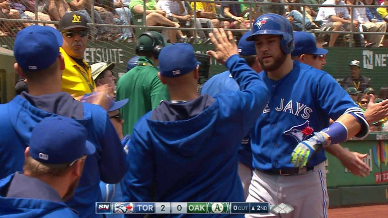 Martin, Dickey lead Blue Jays to win over A's