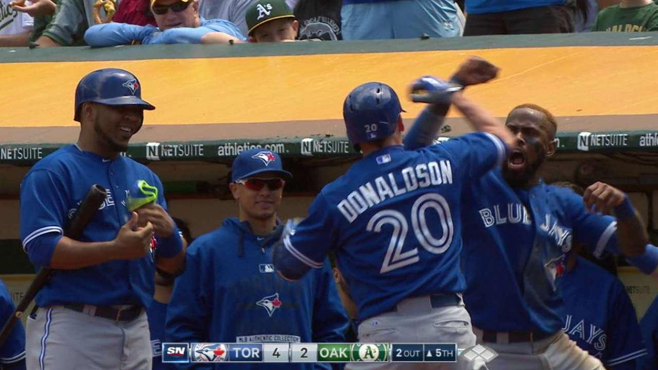 Donaldson, Bonds meet former clubs on MLB.TV