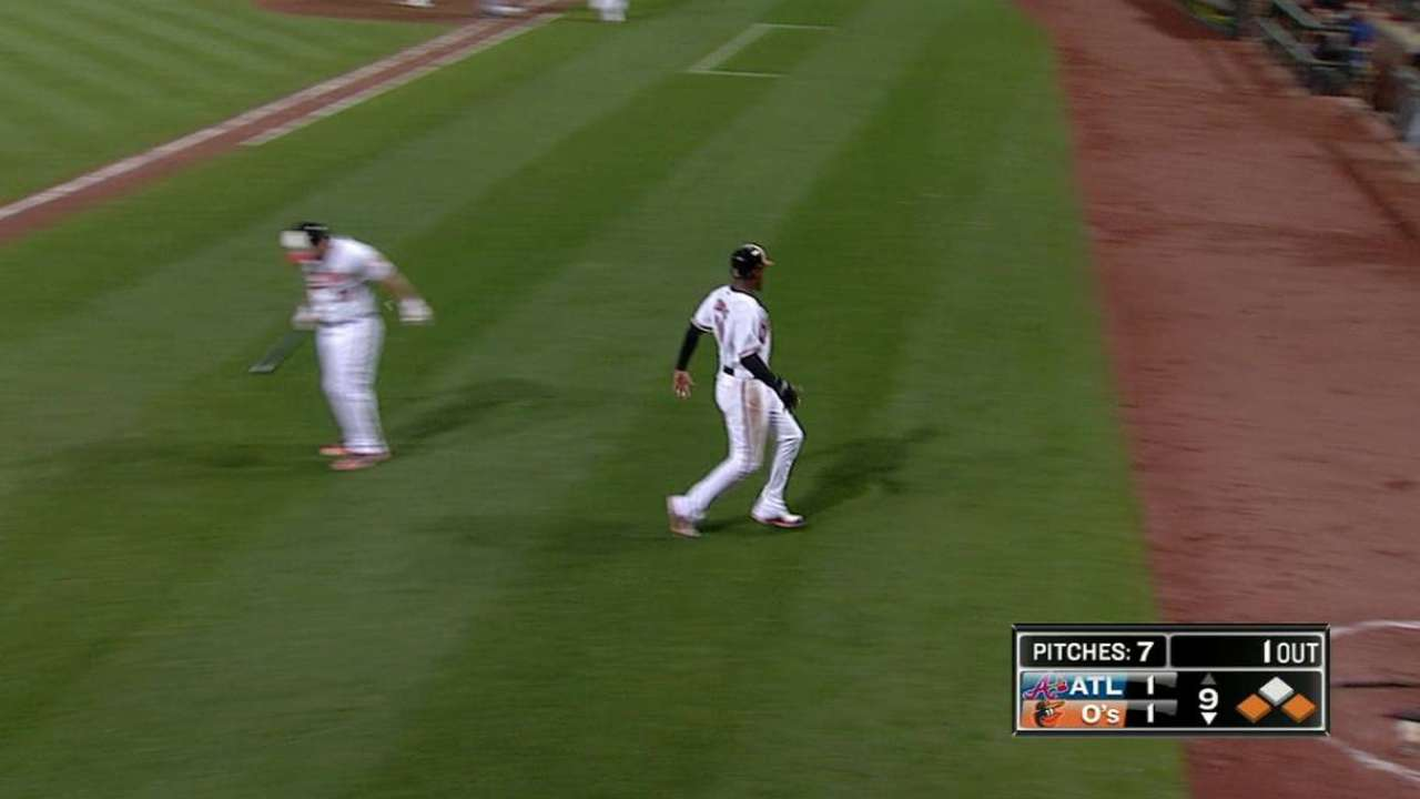 Hardy ties game in 9th