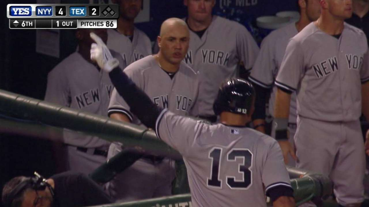 A-Rod 4th to homer in teens and 40s