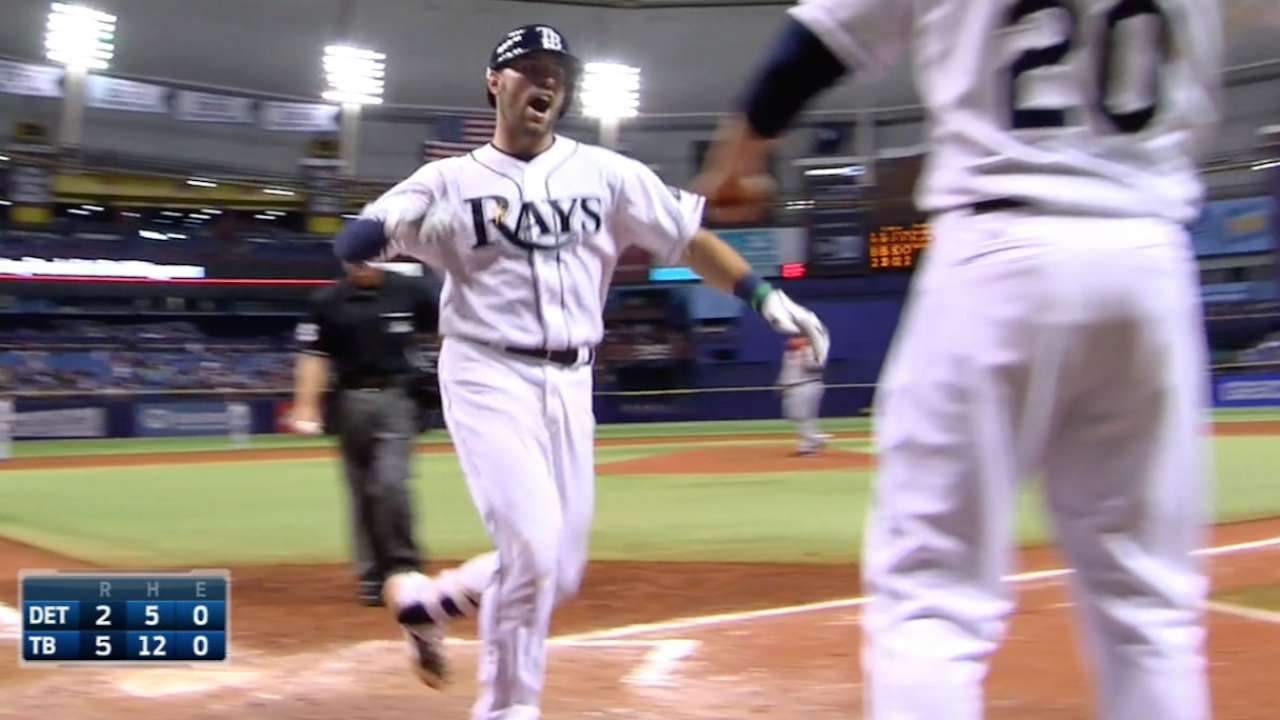 Casali homers twice as Rays hold off Tigers