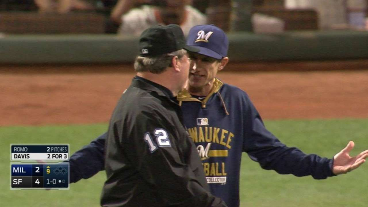 Counsell's ejection