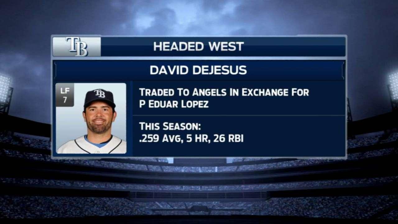 Rays swap DeJesus for Minor Leaguer Lopez