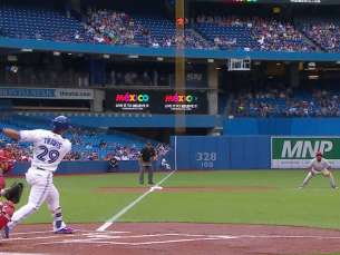 PHI@TOR: Travis opens scoring with leadoff homer