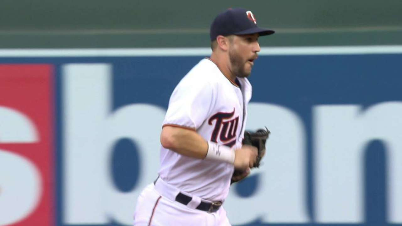 Plouffe placed on paternity list; Polanco recalled