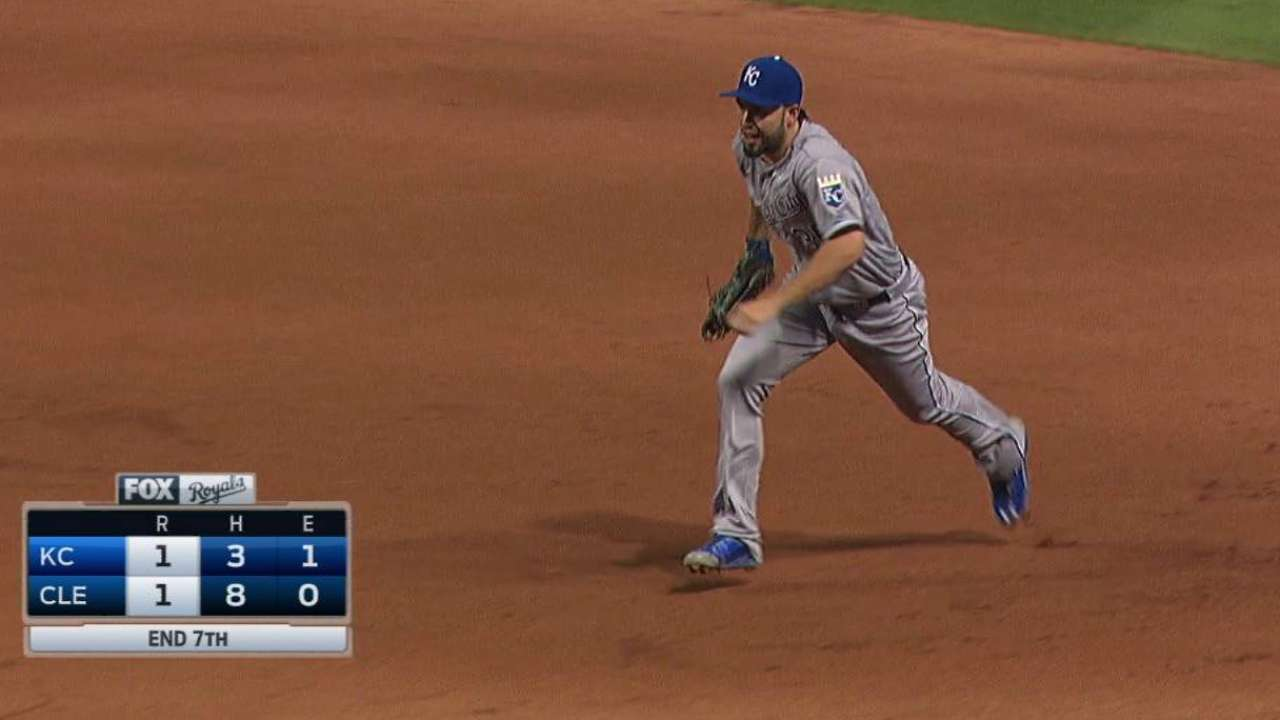 Hosmer flashes the leather