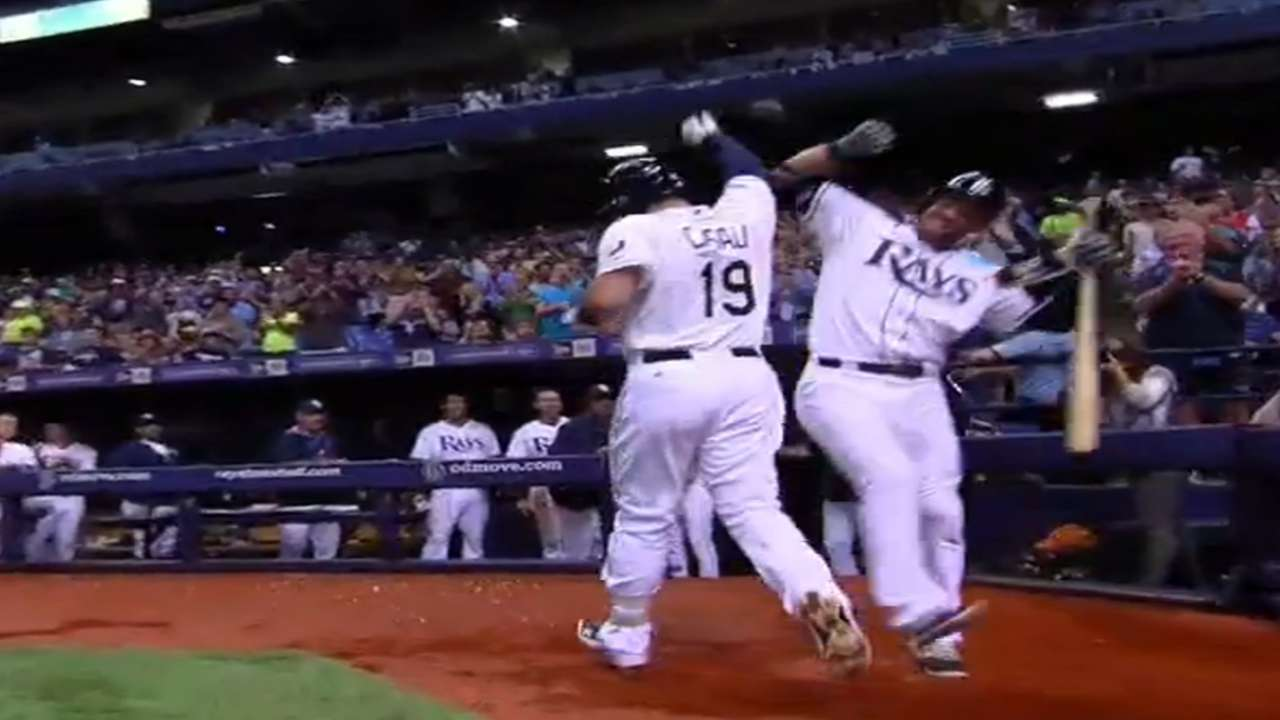Casali's pair of HRs leads Rays past Tigers