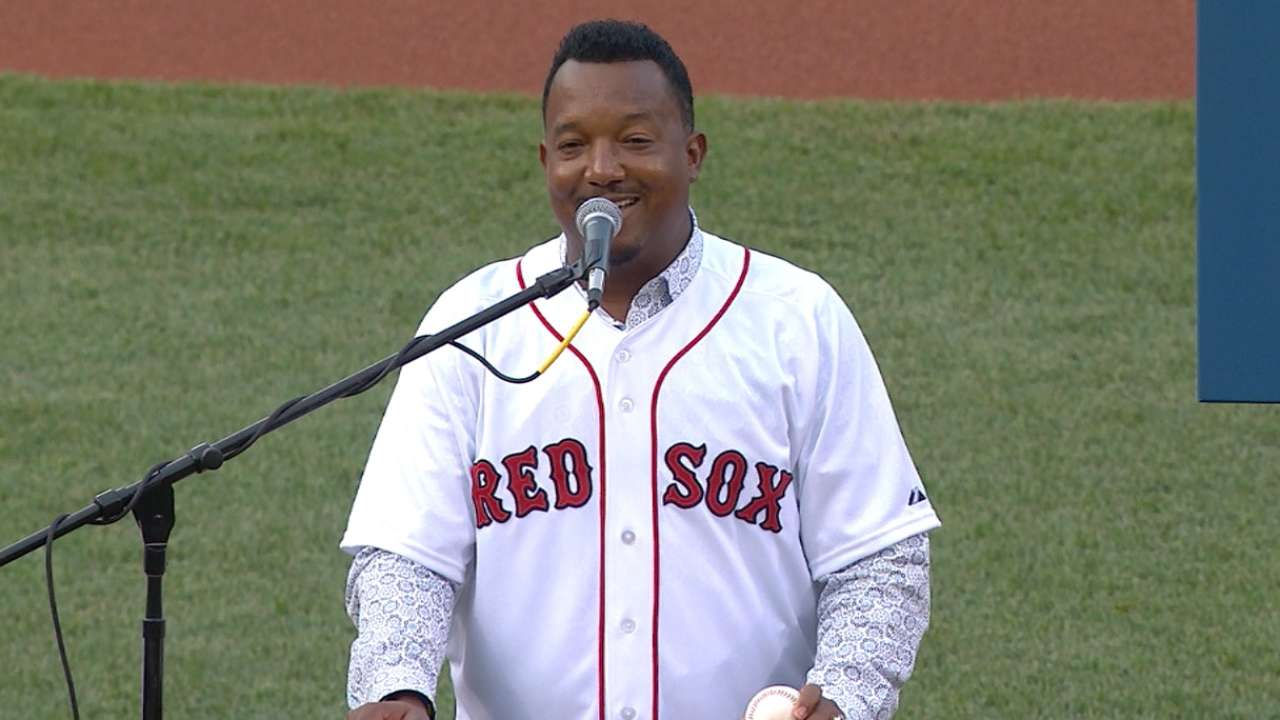 Pedro's number retired at Fenway