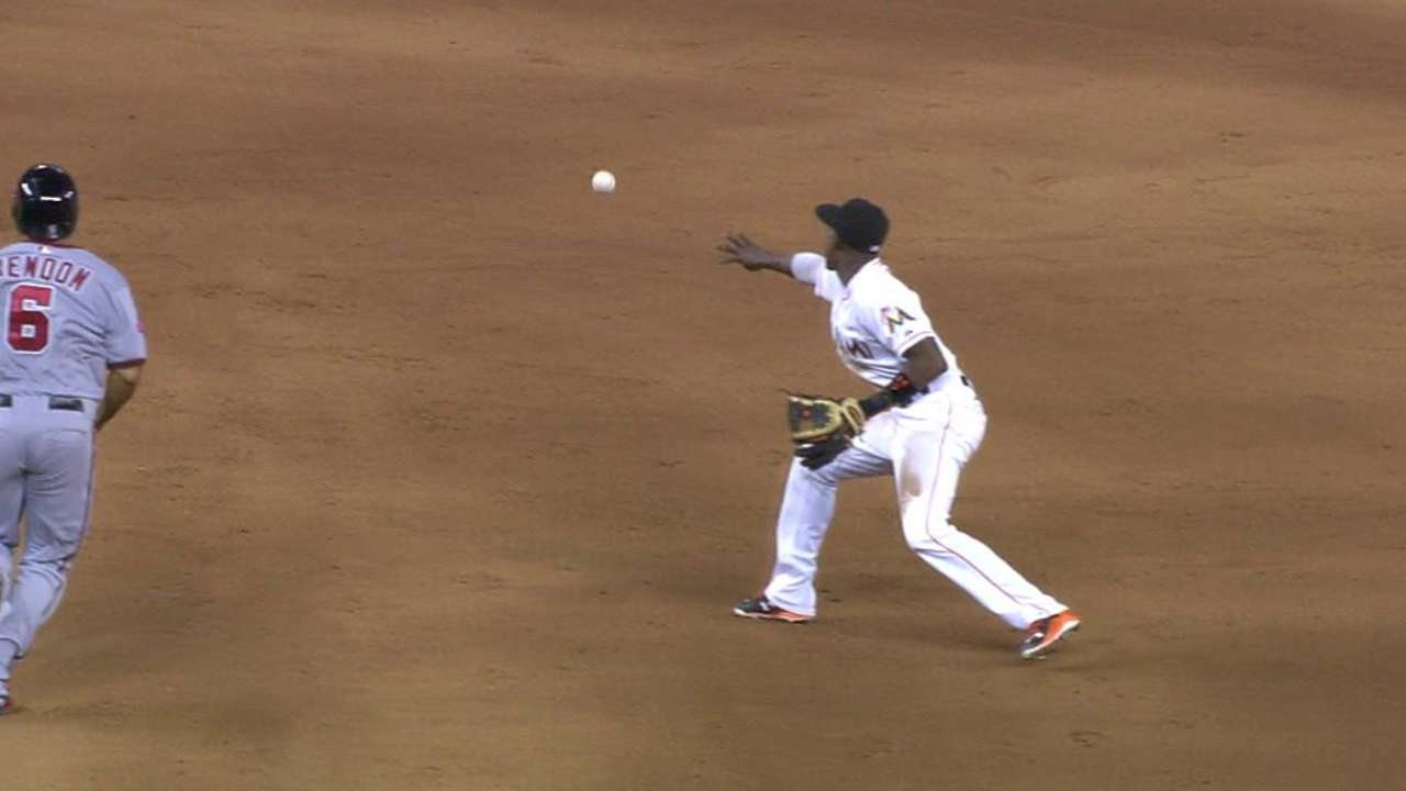 Ramos gets save with double play