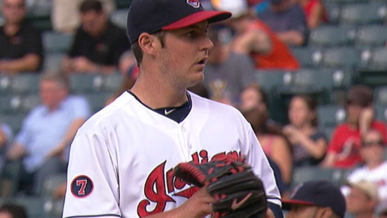 Bauer's curveball betrays him against Hosmer