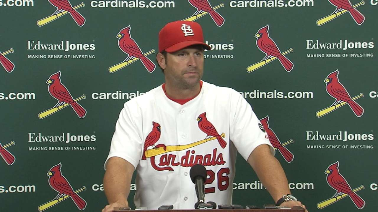 Matheny on Garcia in loss
