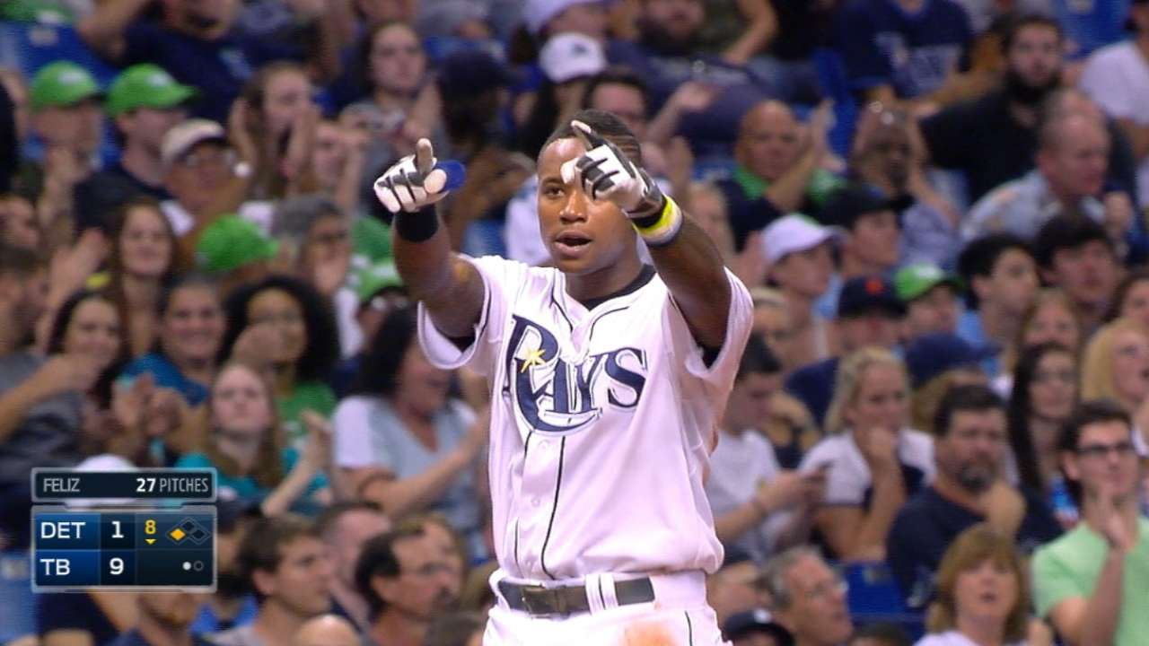 Rays pad lead with five-run 8th