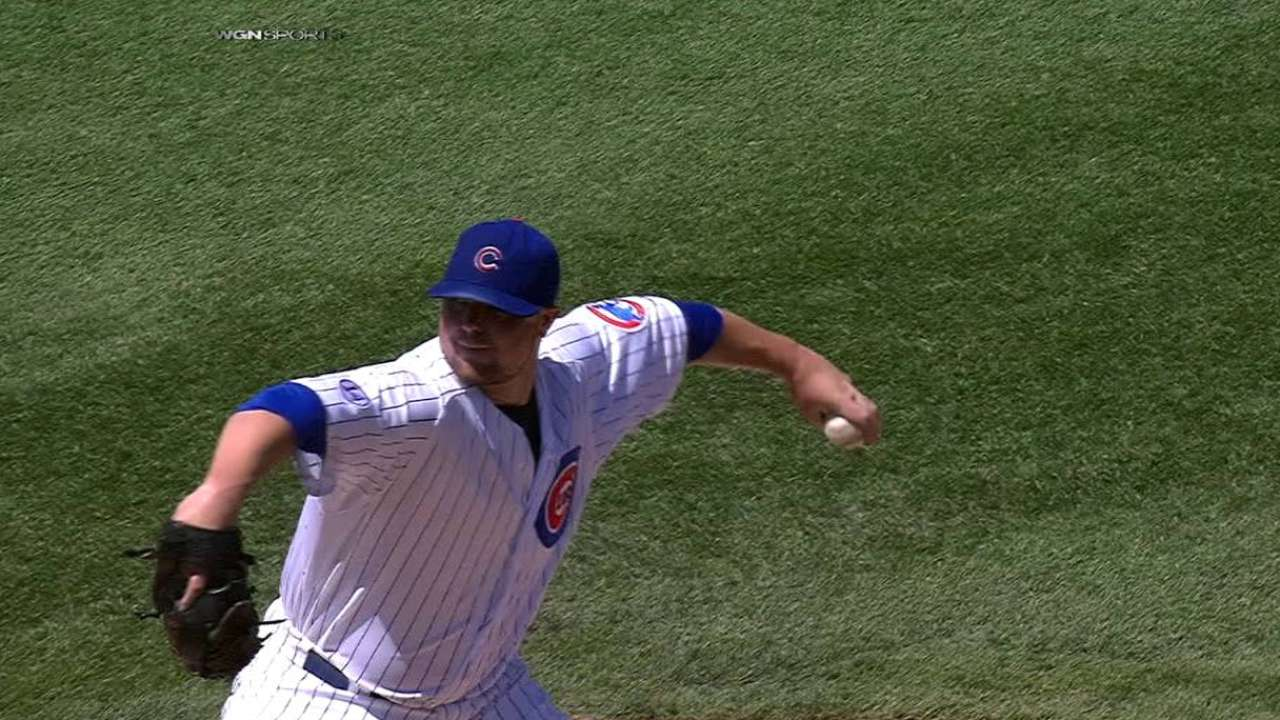 Lester strikes out six in a row