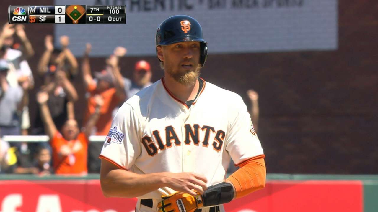 Giants break stalemate vs. Brewers with big 7th