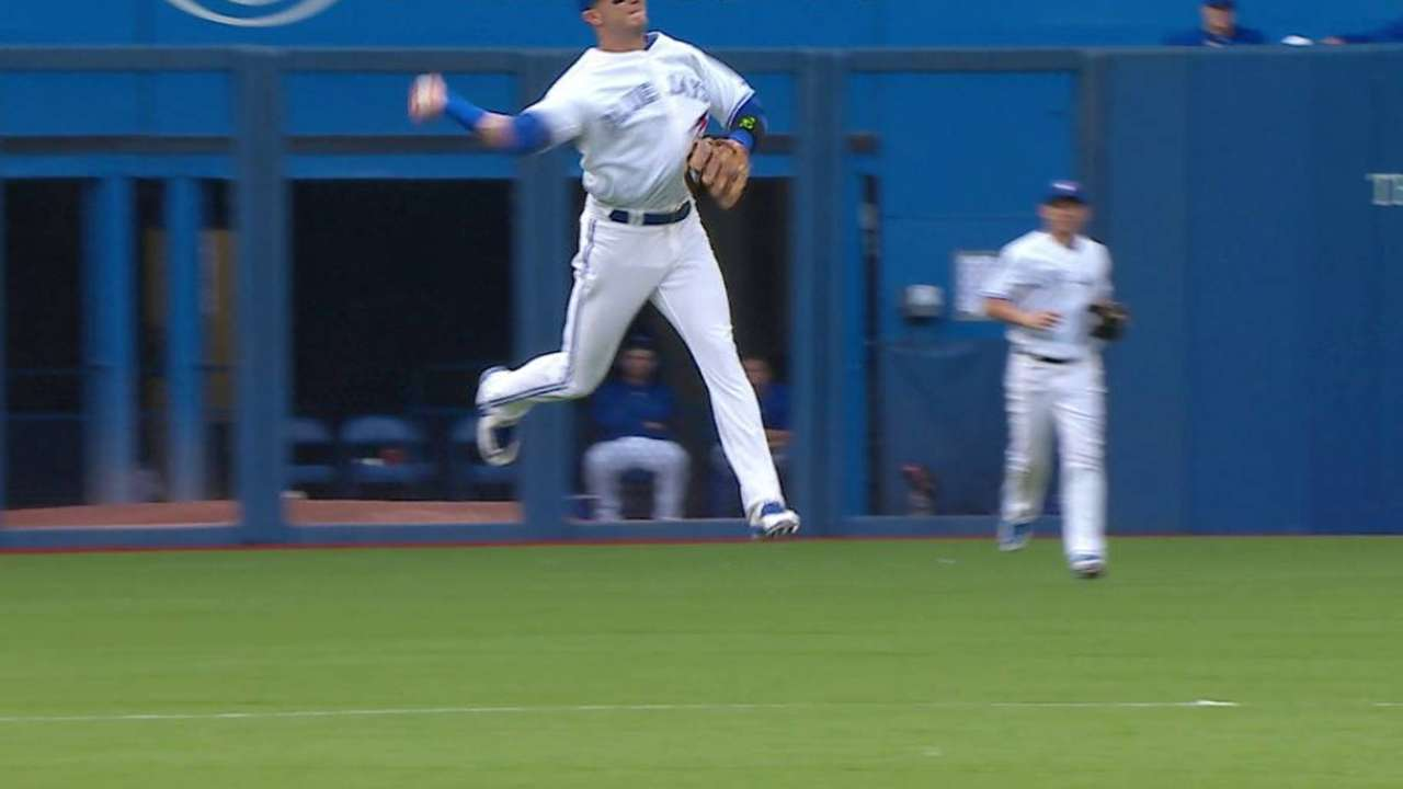 Tulo's jumping off-balance throw