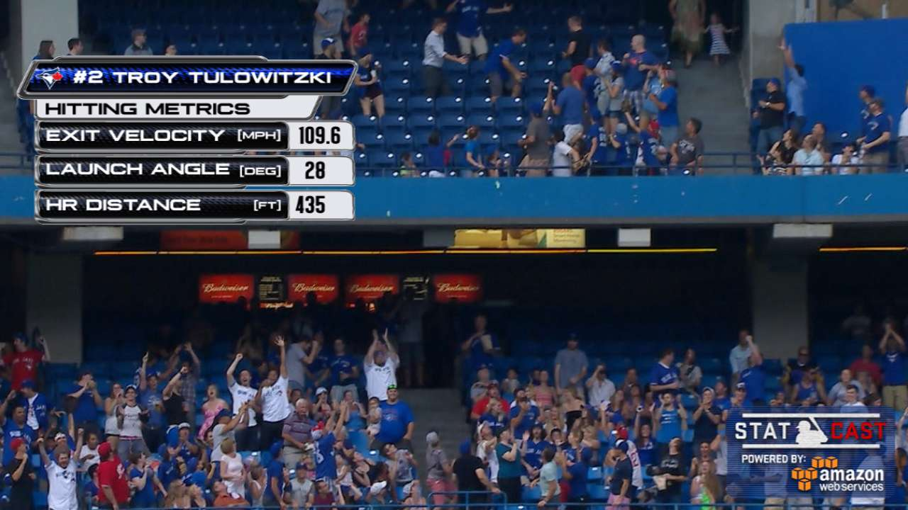 Statcast: Tulo's debut homer