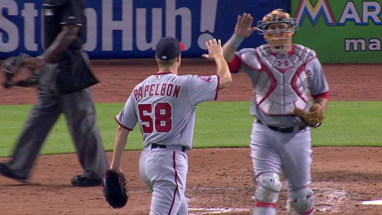 New Nat Papelbon saves Scherzer's 11th win