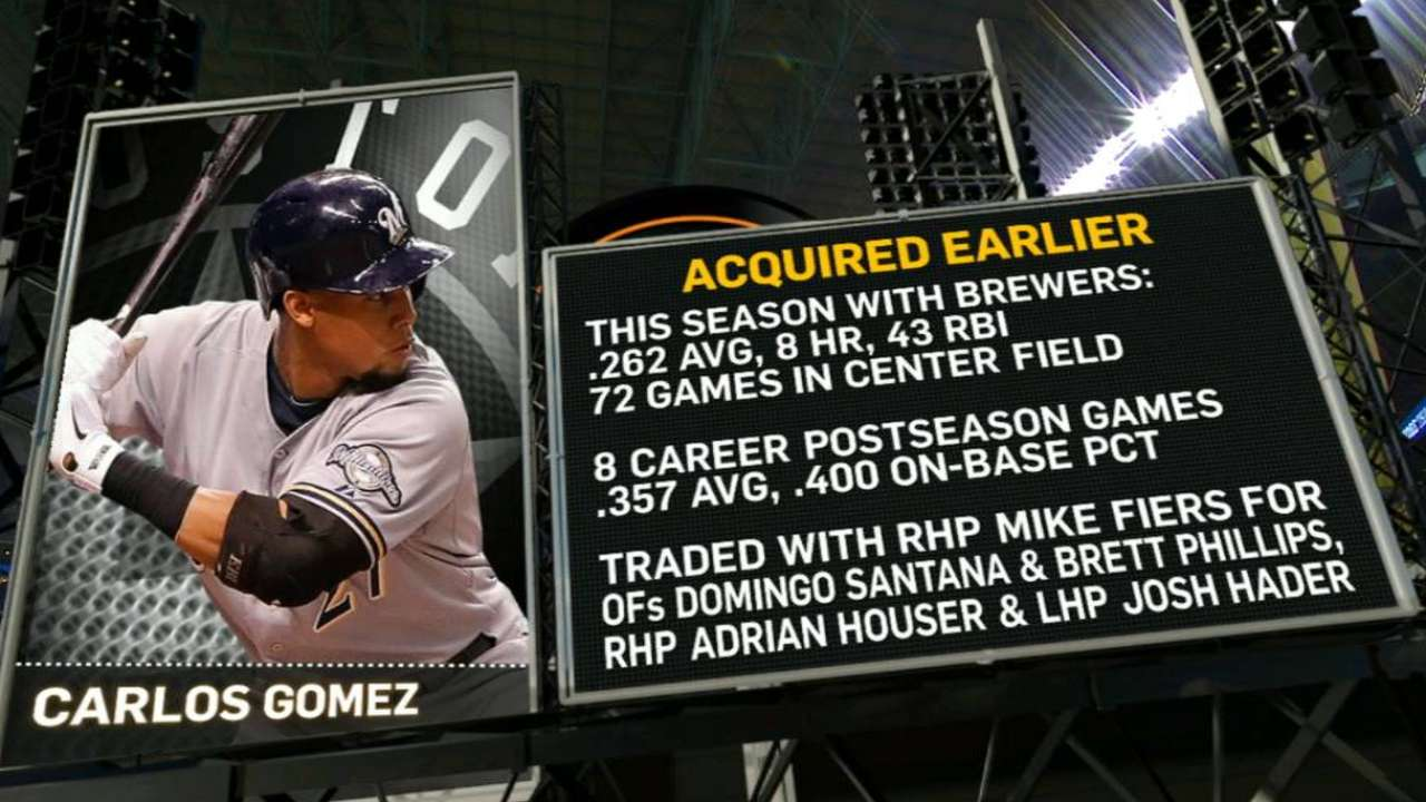 Astros' booth on Gomez trade