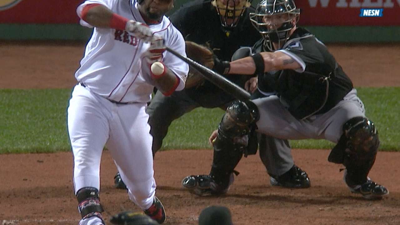 Sandoval exits game after being hit by pitch