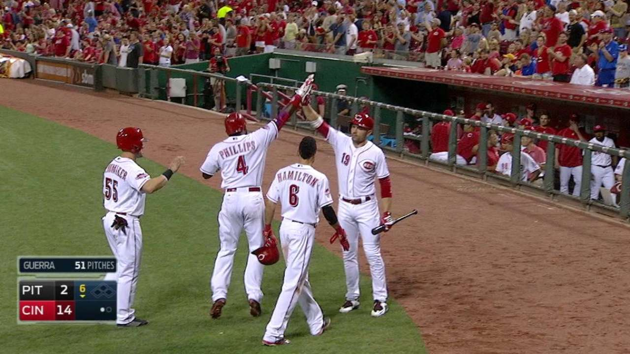 Phillips' second three-run homer