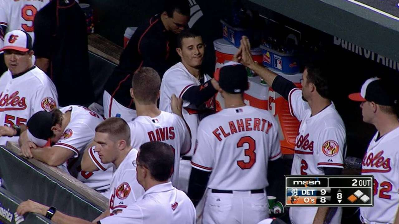 O's power rally comes up short vs. Tigers